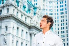 Giovane uomo d'affari americano che cerca successo Immagini Stock Libere da Diritti
