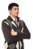 Giovane uomo d'affari asiatico in maglione immagine stock libera da diritti
