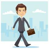 Giovane uomo d'affari attivo Immagini Stock Libere da Diritti