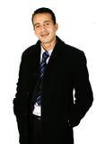 Giovane uomo d'affari in cappotto fotografia stock libera da diritti