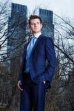 Giovane uomo d'affari che viaggia a New York Immagine Stock Libera da Diritti