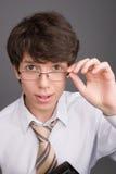 Giovane uomo d'affari con i vetri fotografia stock libera da diritti
