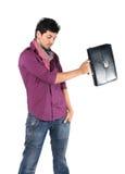 Giovane uomo d'affari con una cartella Fotografie Stock Libere da Diritti