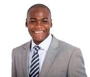 Giovane uomo d'affari dell'afroamericano Fotografie Stock Libere da Diritti