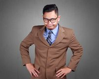 Giovane uomo d'affari Disappointed Gesture immagine stock