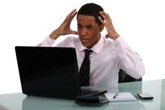 Giovane uomo d'affari frustrato Fotografie Stock Libere da Diritti