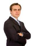 Giovane uomo d'affari. Isolato su bianco. Immagini Stock Libere da Diritti