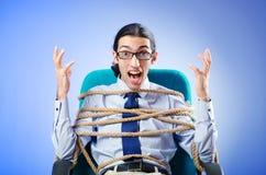 Giovane uomo d'affari legato Fotografia Stock