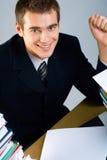 Giovane uomo d'affari o allievo Immagine Stock Libera da Diritti