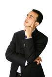 Giovane uomo d'affari premuroso immagini stock libere da diritti