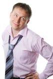 Giovane uomo d'affari sexy bello Fotografie Stock