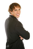 Giovane uomo d'affari - sorridendo Immagini Stock Libere da Diritti