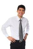 Giovane uomo d'affari sorridente asiatico Fotografia Stock Libera da Diritti