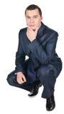 Giovane uomo d'affari in un vestito Fotografie Stock