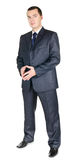 Giovane uomo d'affari in un vestito Immagine Stock