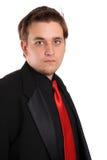 Giovane uomo d'affari in vestito convenzionale nero Fotografia Stock Libera da Diritti