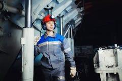 Giovane uomo del minatore fotografie stock libere da diritti