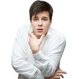 Giovane uomo delicato del brunette Fotografie Stock