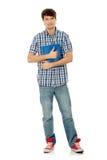 Giovane uomo dell'allievo con il taccuino Immagine Stock Libera da Diritti