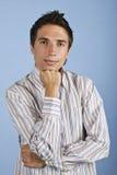 Giovane uomo di affari con l'atteggiamento Immagini Stock