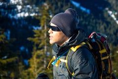 Giovane uomo di colore in inverno Fotografia Stock Libera da Diritti