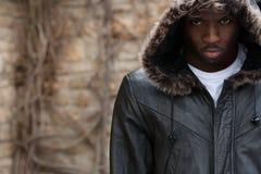Ritratto di giovane uomo di colore lunatico Fotografia Stock Libera da Diritti