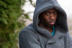 Ritratto di giovane uomo di colore lunatico Immagine Stock Libera da Diritti