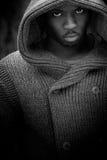 Ritratto di giovane uomo di colore lunatico Fotografie Stock