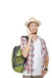 Giovane uomo di viaggio Fotografie Stock Libere da Diritti