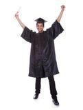 Giovane uomo emozionante di graduazione Fotografie Stock Libere da Diritti