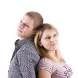 Giovane uomo enamoured e la donna Fotografia Stock Libera da Diritti