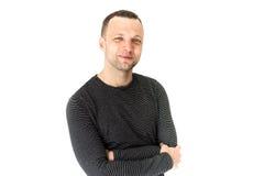 Giovane uomo europeo adulto sorridente, ritratto dello studio Immagini Stock Libere da Diritti