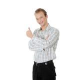 Giovane uomo felice dell'allievo Immagine Stock