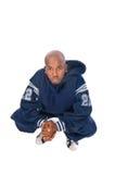 Giovane uomo freddo di hip-hop su priorità bassa bianca Fotografia Stock