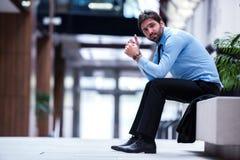 Giovane uomo frustrato di affari Fotografia Stock Libera da Diritti