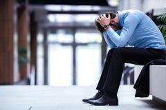 Giovane uomo frustrato di affari Fotografie Stock