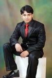 Giovane uomo indiano che osserva con il confidance Immagini Stock