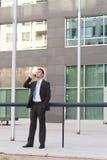 Giovane uomo serio di affari Immagini Stock