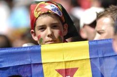 Giovane ventilatore del Portogallo all'EURO 2008 Fotografia Stock