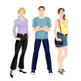 Giovani in abbigliamento casual Immagini Stock Libere da Diritti