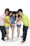 Giovani allievi asiatici Immagine Stock