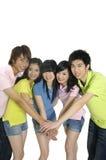 Giovani allievi asiatici Immagini Stock Libere da Diritti