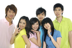 Giovani allievi asiatici Immagini Stock