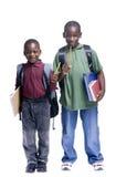 Giovani allievi maschii Fotografia Stock Libera da Diritti