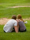 Giovani amanti fotografia stock