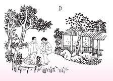 Giovani amanti illustrazione di stock