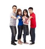 Giovani amici che ridono insieme Fotografia Stock