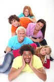 Giovani amici sorridenti Fotografia Stock Libera da Diritti