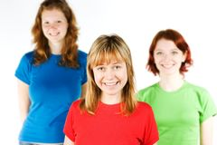 Giovani amici sorridenti Immagine Stock Libera da Diritti