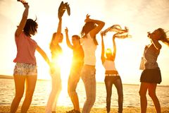 Partito sulla spiaggia Fotografia Stock Libera da Diritti